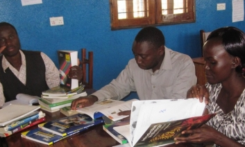 Teachers preparing work schemes