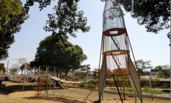The new playground equipment
