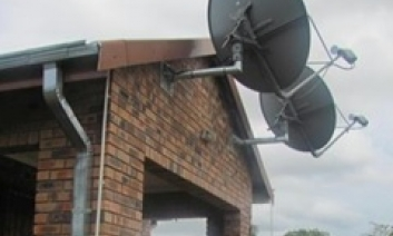 satellite dish outside of school